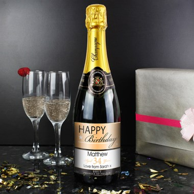 Personalised Happy Birthday Champagne | £39.99 | Special Moment: www.specialmoment.co.uk/personalised-happy-birthday-champagne.aspx
